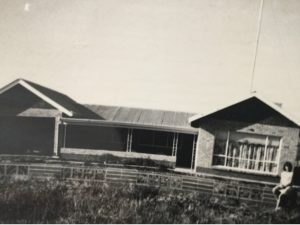 William's home in Renmark built by his Mum and Dad. His sister is on the front fence. Notice the old TV antennae in 1963