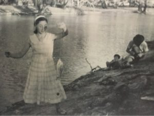 Renmark, South Australia - my Mother Gertrude Schuettler by the River Murray in 1957.